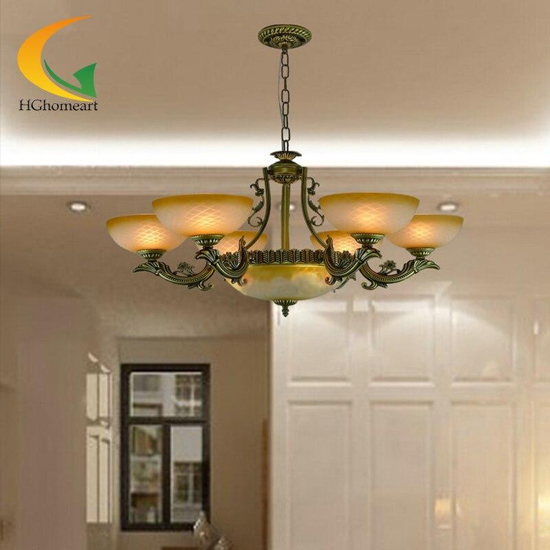 Continental Iron restaurant retro living room antique iron chandelier bedroom chandelier lighting lamps