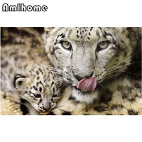 5D Full Drilled Square Snow Leopard Mosaic Kit Diy 5d Diamond Painting Cross Stitch Square Diamond