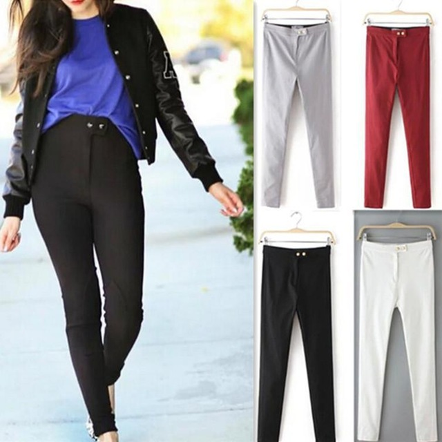 2015 nueva moda americana AA para mujer pantalones lápiz de talle alto Jeans  mujer pantalones de mezclilla flaca delgada pantalones en Pantalones  vaqueros ... 10aa9c81e1f