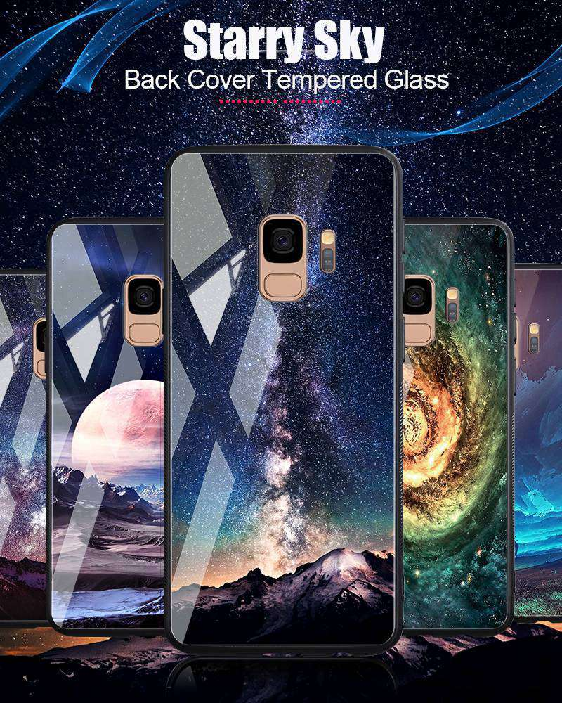 Odifren Space Case for Samsung Galaxy S9 S9 Plus Case Note 9 Tempered Glass Cover Coque Phone Cases for Samsung Galaxy Note 8 9 (16)