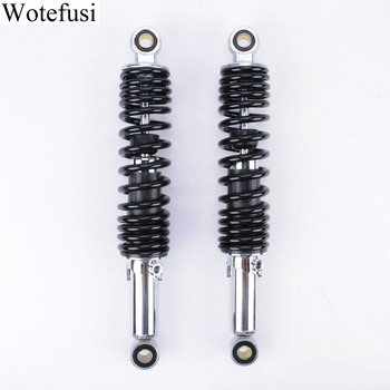 Wotefusi 2Pcs 320MM Shock Absorber Round Head Black For Motor Bike ATV Replacement [PA627]