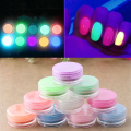 NEW Random 10 pcs Neon Colors Phosphorescent Fluorescent Nail Art Powder Glow In Dark Acrylic DIY Beauty Makeup Tool
