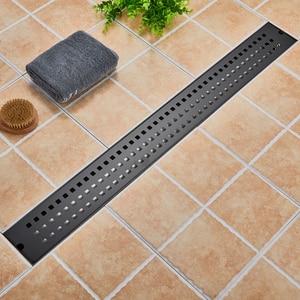 Image 4 - 스테인레스 스틸 욕실 바닥 드레인 900mm 선형 롱 샤워 창살 욕실 채널 타일 배수구