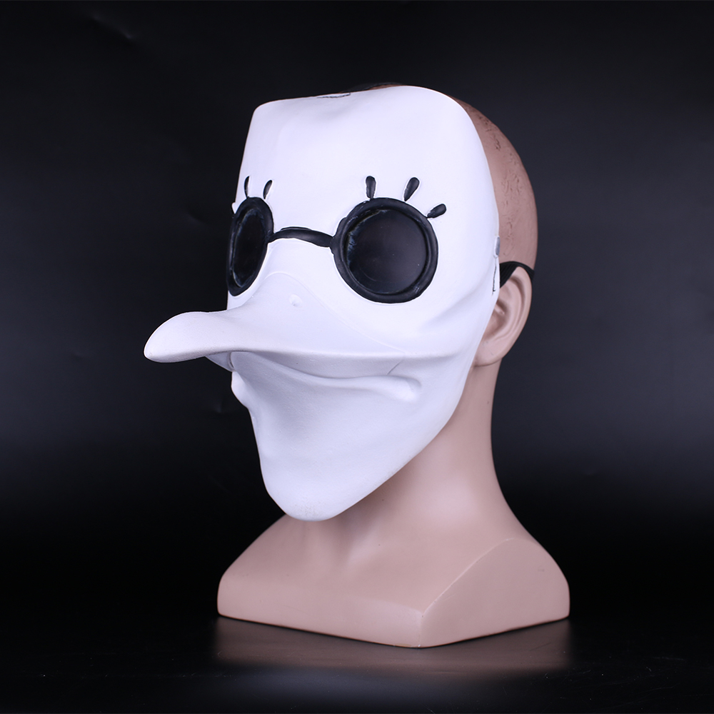 plague doctor mask Beak Mask Long Nose Cosplay Fancy Mask Gothic Retro Rock Leather Halloween beak Mask white