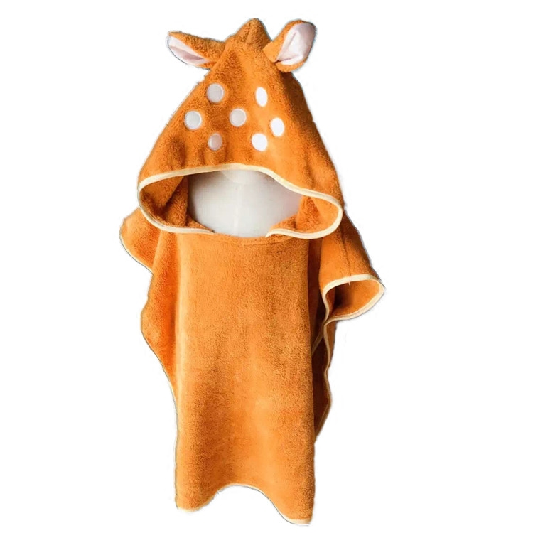 deer cartoon Goggles shape baby infant cotton towels children bath Sandy beach towel  kids super soft Wrap Bathrobe for boy girl