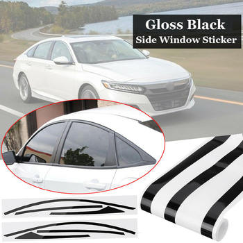 2pcs Side Window Sticker For Honda 2018 Accord Chrome Trim Blackout Overlay Side Window Sticker image