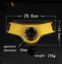 Tideliner 29.6cm*13.4cm Aluminoum boat fishing rod holder fishing belt  jigging gimbal belt fishing tools accessories