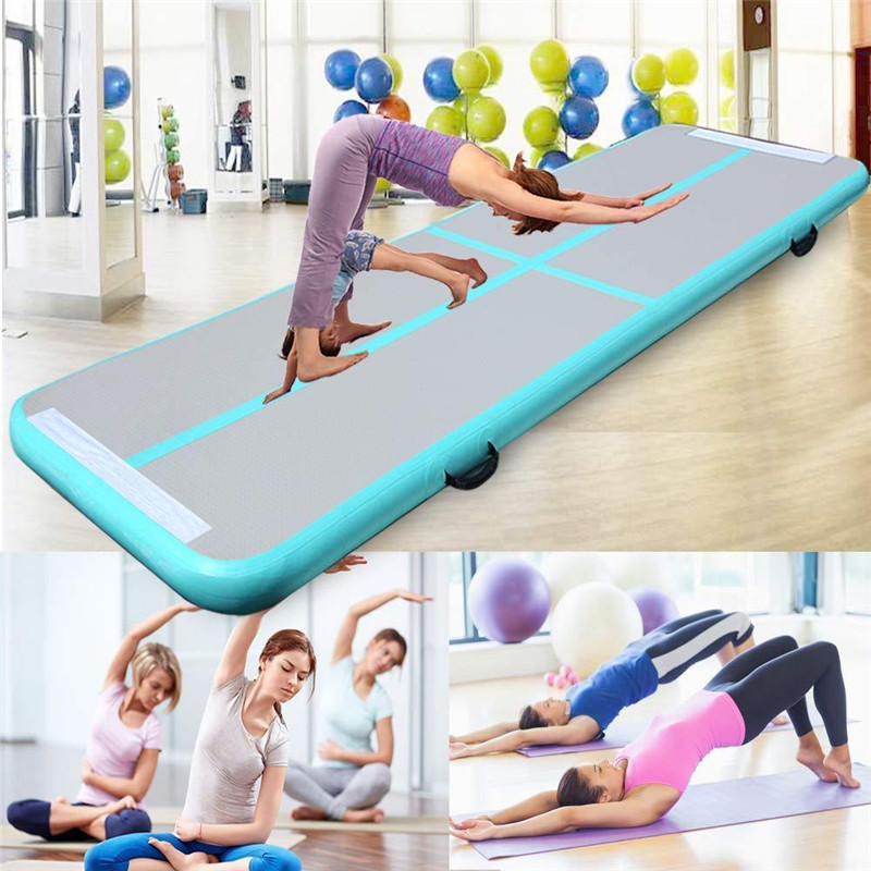 Newest 300x100x10cm Inflatable Jumping Mat Gymnastic Air Tumble Track Sport For Gym Use Indoor