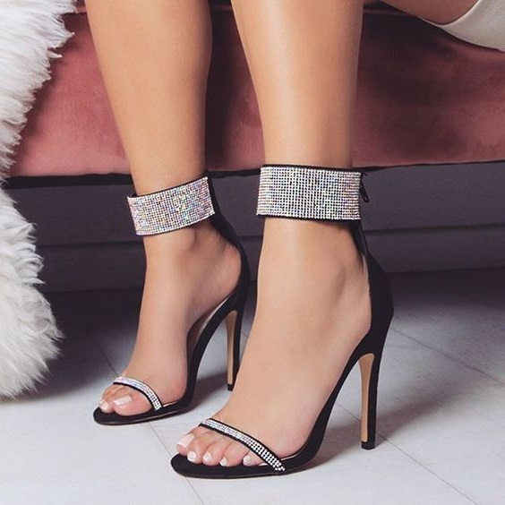 Hot Sell Summer Women High Heel Sandals Female Flock Solid Thin Heel Casual Party Simple Stiletto Open Toe Shoes Size 34-43 meotina shoes women sandals summer sexy stiletto high heel sandals open toe ankle strap party pumps lady shoes purple size 34 43