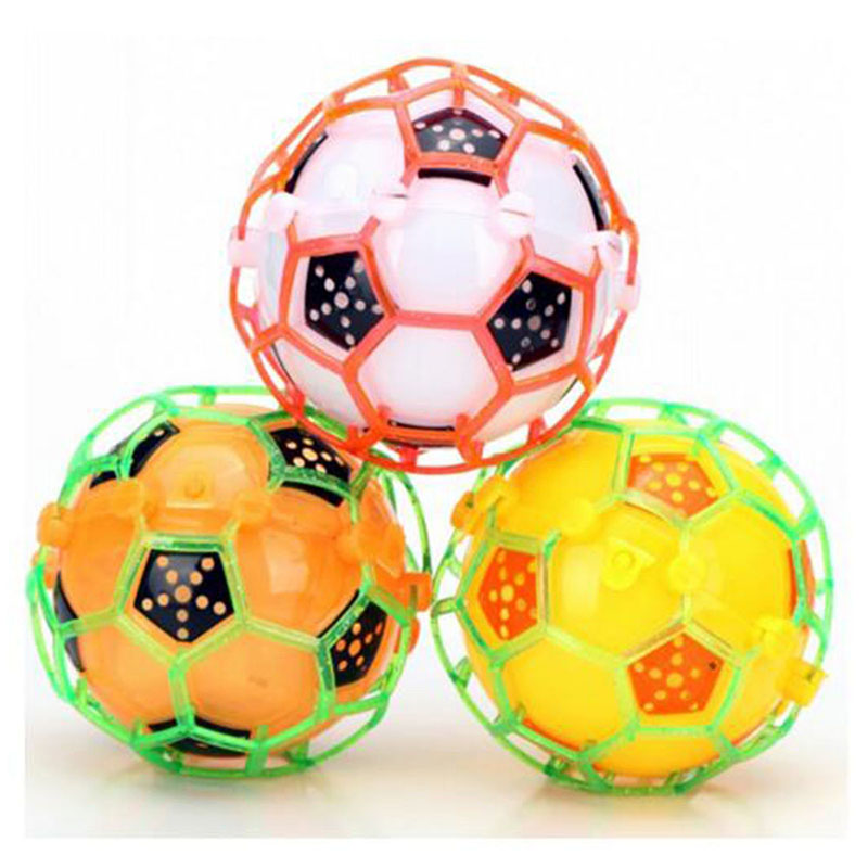 Bouncy Ball With Led Light Flashing Ball Bouncing Football Baby Kids Ball Toys