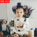 Christams Tree Knitted Baby Sweater Boy Casual Winter 2016 Long Sleeve Cotton Sweater Girl 9M-5Y Kids Warm Children's Sweater