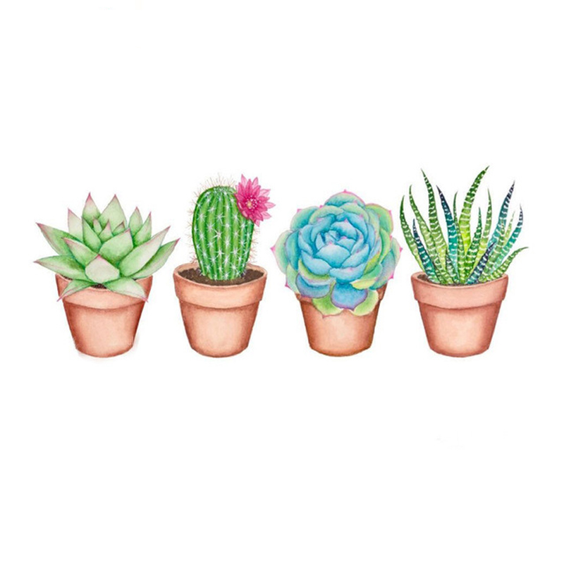 Practice Diamond-Painting Full Round 5D DIY Succulent Plants Embroidery Decors