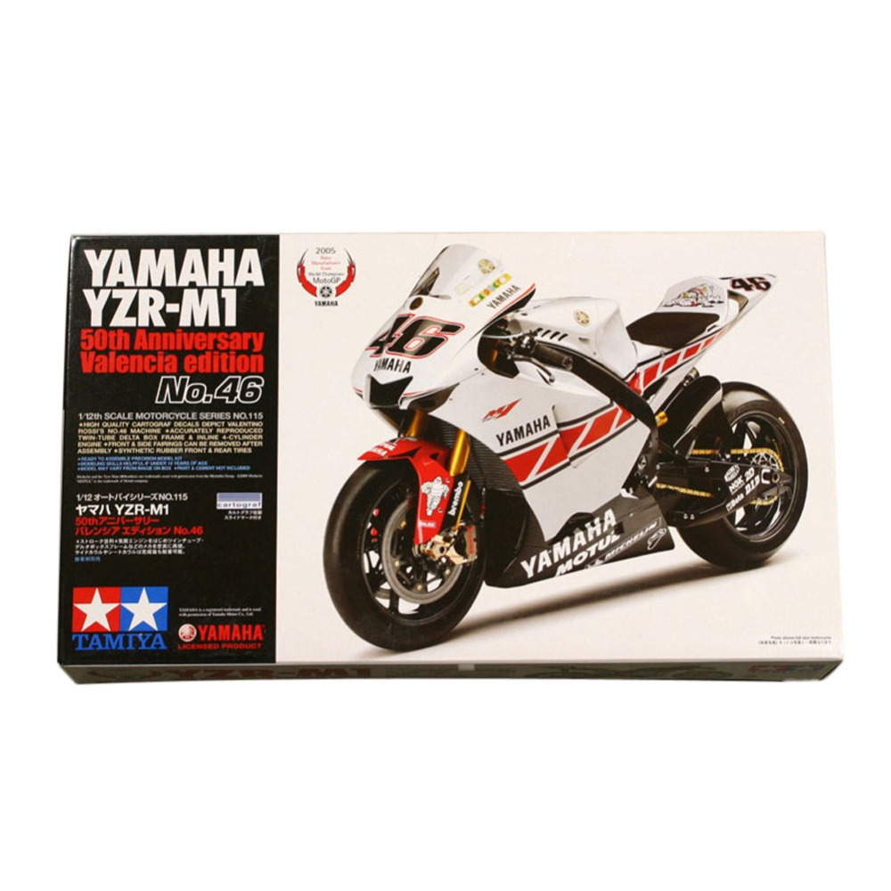 OHS Tamiya 14115 1/12 YZR-M1 50th Anniversary Valencia Edition Scale Assembly Motorcycle Model Building Kits