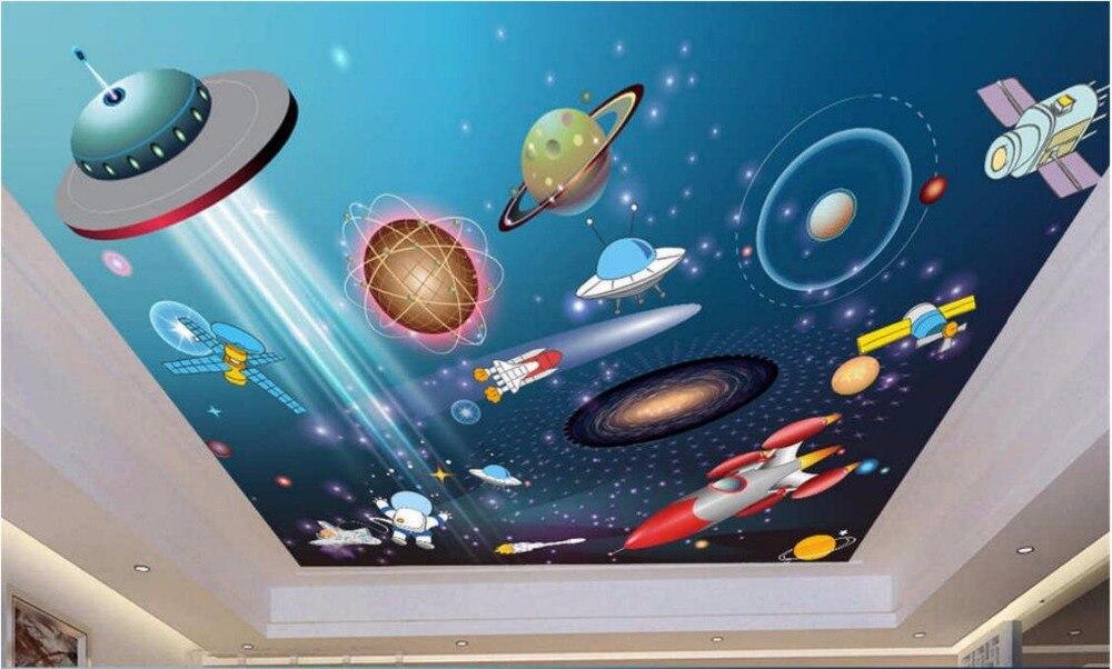 Custom photo 3d ceiling murals wallpaper decor painting Cartoon star galaxy universe 3d wall murals wallpaper