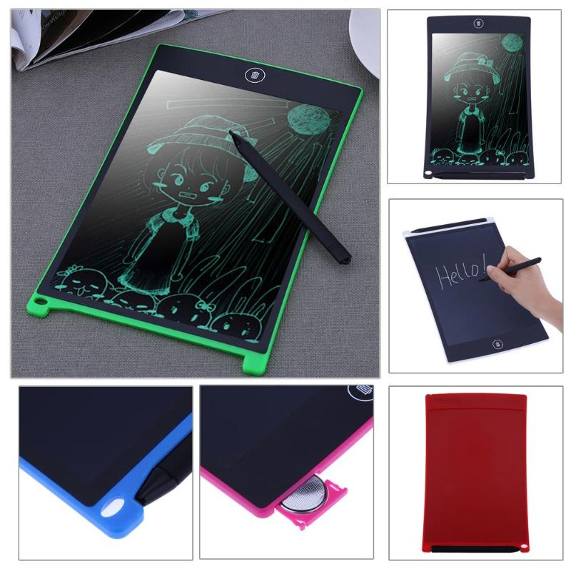 8.5inch LCD Writing Tablet Writing Pad Digital LCD Screen with Stylus Memo Board Six Color