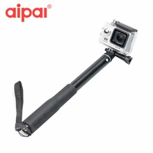 Motion digicam Selfie Sticks 28cm-71cm Handheld monopod for gopro hero four three three+ SJCAM SJ5000 xiaomi yi sports activities Equipment