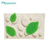 Leaves Shaped Fondant Cake Baking Tools Liquid Silicone Mold Chocolate Decorating Kitchen MJ-00435