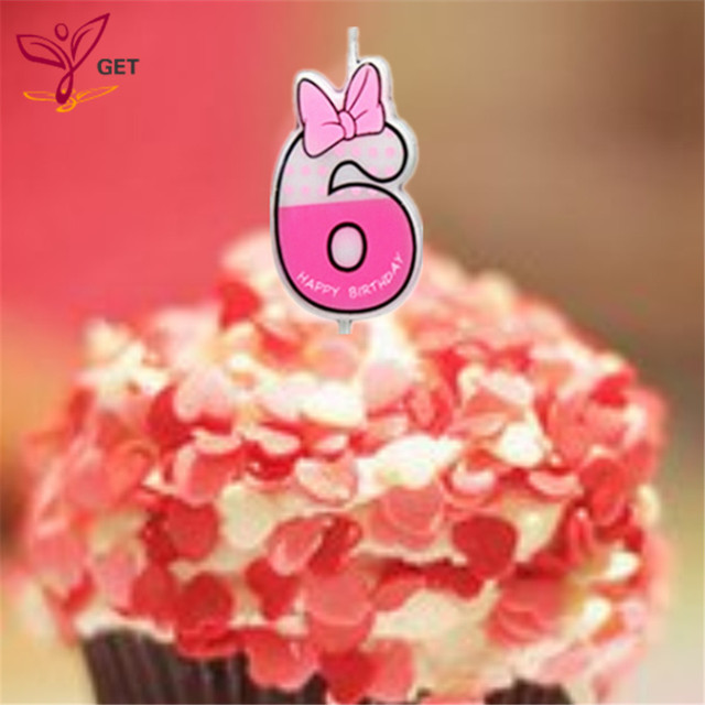 Cute Girls Number 6 Candle Cake Candle Number Ages Party Kids
