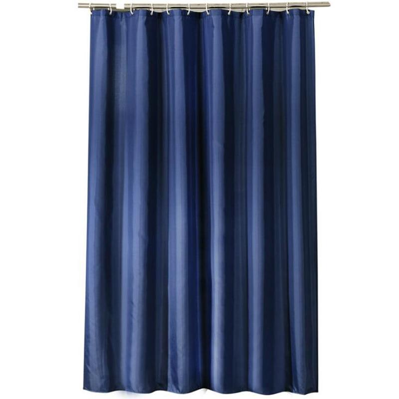 dark blue shower curtain hotel waterproof shower curtain thick polyester fabric shower curtain with plastic hook sk 7
