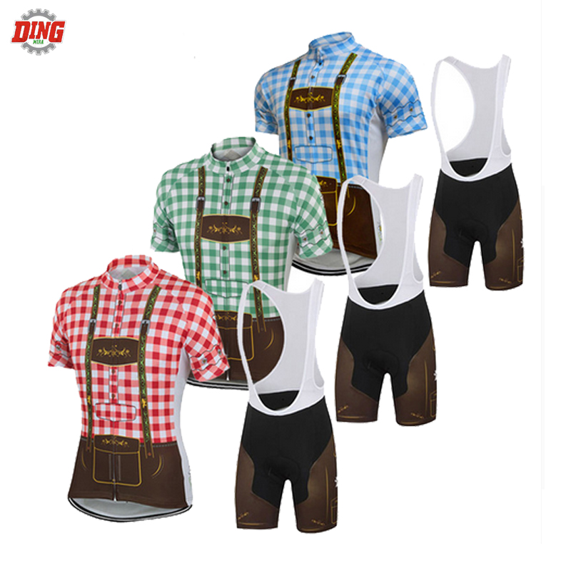 Summer NEW cycling jersey ropa Ciclismo set men short sleeve team bike wear jersey set hot classic roupa bib shorts Gel Pad MTB