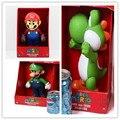 """3 tipos 3 unids 9 """"23 CM de Alta Calidad de PVC Super Mario Bros Mario Yohsi Figura"""