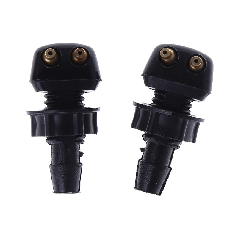2 X Auto Car Front Windscreen Universal Washer Wiper Nozzle Water Spray DIY Kits For Volvo For VW Replacement