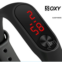 Men Women Casual Sports Bracelet Watches LED Electronic Digital Candy Color Silicone Wrist Watch Children Kid saati Relogio 2019
