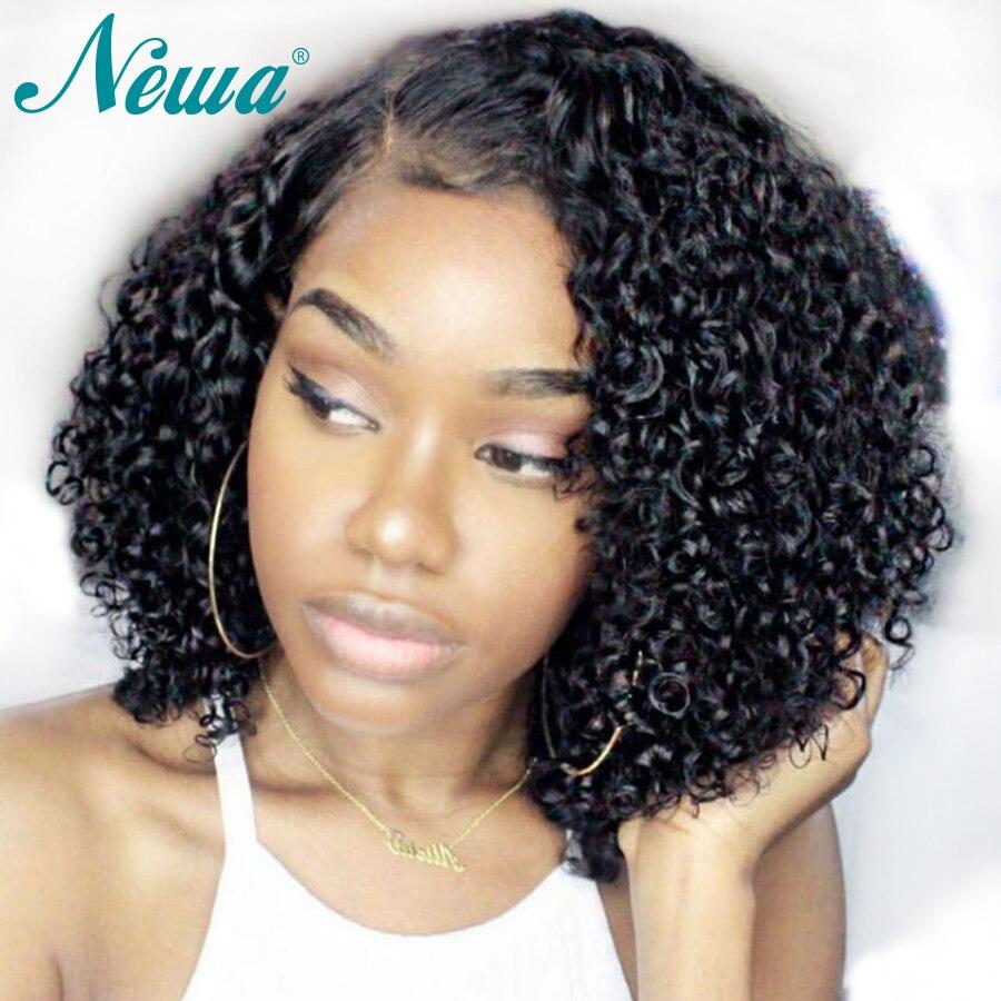 Newa Hair Full Lace Human Hair Wigs For Black Women Short Human Hair Bob Wigs Brazilian Remy Hair Curly Lace Wig Pre Plucked-ใน วิกลูกไม้ผมจริง จาก การต่อผมและวิกผม บน AliExpress - 11.11_สิบเอ็ด สิบเอ็ดวันคนโสด 1