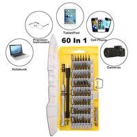 56 Ile 60 Adet Hassas Tornavida Set Manyetik Sürücü Kiti Elektronik Onarım Aracı iPhone Xbox için Laptop Cep Telefonu