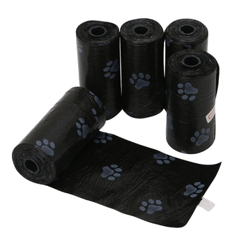 5 Rolls/Pack Sacchetto di Cacca di Cane per Animali Domestici Del Cane Sacchetti di Immondizia Rifiuti Carrier Biodegradabile Clean-up Sacchetto di Rifiuti pick Up Bag Pulire Per Il Cane