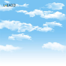 Laeacco Clouds Blue Sky Baby Newborn Children Portrait Photography Backgrounds Custom Photographic Backdrops For Photo Studio