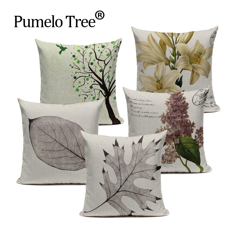 US $2.99 40% OFF|Soft modern throw Yarn Small Trees Graphics Sofa Bed  Cushion Throw Pillow 45Cmx45Cm Square Sofa And Chair Printing Pillows-in  Cushion ...
