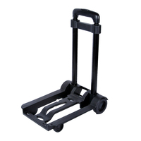 Metal Folding Travel Accessories Cart Portable Luggage Carts Adjustable Home Trolley Shipping Cart Fixed Travel Bags