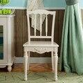 Пастырское ресторан стулья античный белый обеденный стул простой стул спинкой