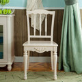 Pastoral restaurant chairs antique white dining chair simple backrest chair