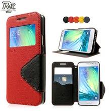 Телефонные Чехлы для Samsung Galaxy 3 SM-A300F Дневник кожаный чехол для Samsung A3 A300F A 300F рев Корея вид окно