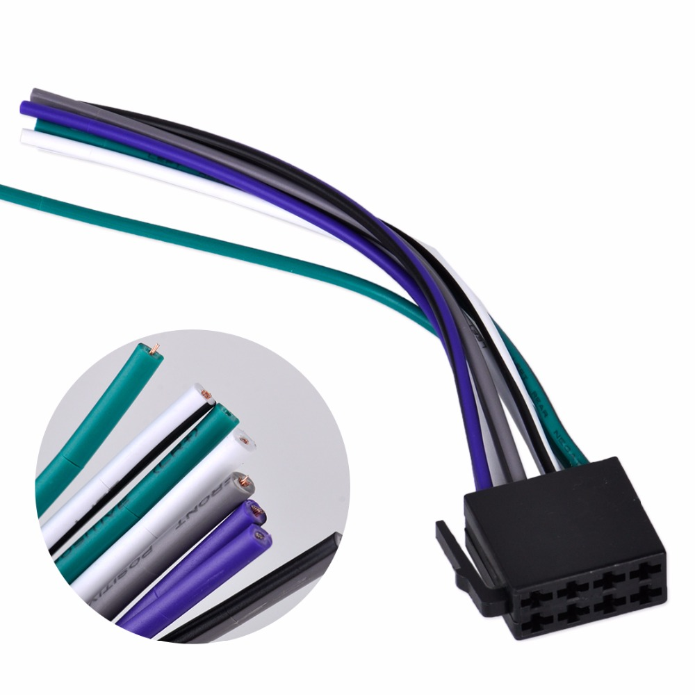 Dwcx Universal Iso Wire Harness Female Adapter Connector Cable Radio Stereo Wiring Kit Plug For Car System In Cables Adapters Sockets
