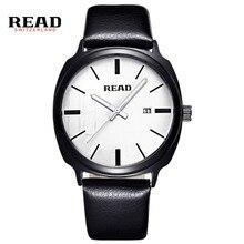 ЧИТАТЬ Мужчины Часы Relojes Кварцевые Повседневная Кожаный Ремешок Часы Мужской Наручные Часы R2063