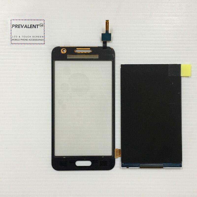 Pour Samsung Galaxy Core 2 SM-G355H G355H G355 Duos Écran Tactile Digitizer Capteur En Verre + LCD Panneau D'affichage