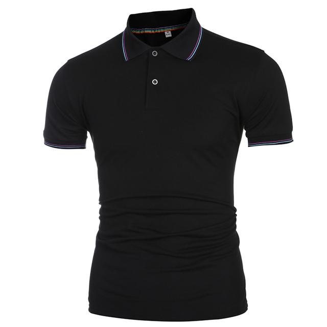 2016 Nuevas Marcas Para Hombre POLO de Manga Corta Camisa de POLO de Color Sólido camisas de Marcas Camisas de Polo de Cuello alto Para Hombre Camisa de Polo de Tamaño 3XL