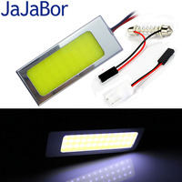 JaJaBor 2Sets Car Signal Light COB 48SMD White Reading Lamp Led Car   Auto   Interior Panel Dome Light T10 Festoon Car Light