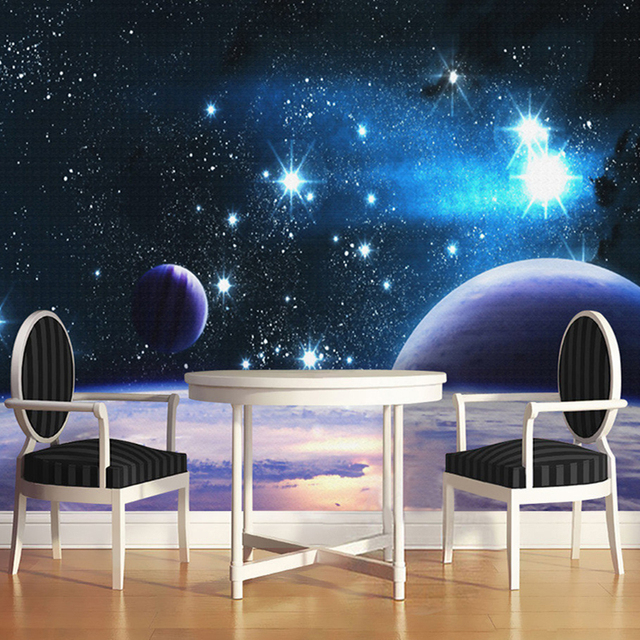 Exceptional Moderne Benutzerdefinierte 3D Geprägte Wandbild Tapete Für Wand Universum  Planeten Helle Stern Foto Wall Paper Zimmer