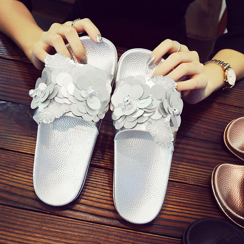 Women Slippers Home Indoor Ladies Woman shoes Slip On Slides Flat New Bling Fashion Female Casual Beach Flip Flops Sandal women slippers summer bling beach shoes sequined rivet fashion slippers female light flat platform non slip ladies shoes ald931