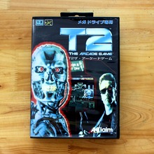 T2 The Arcade Game 16 Bit MD Game Card with Retail Box for Sega MegaDrive & Genesis Video Game console system