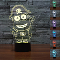 New Minions 3D Table Lamp Luminaria Led Night Lights Kids Children's room Decorative lighting Mood Lamp great gift for kids