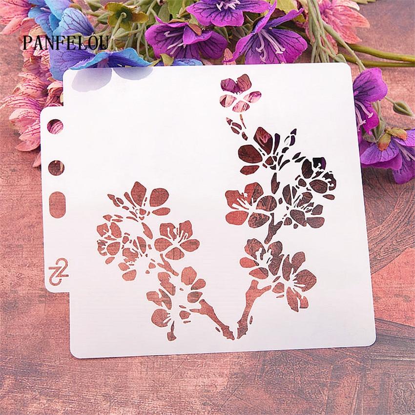 Beautiful Branches Scrapbook Stencils Spray Plastic Mold Shield DIY Cake Hollow Embellishment Printing Lace Ruler Valentine