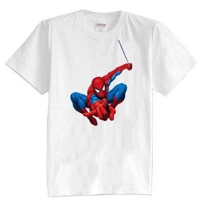 Children's T shirt summer short sleeve 100% cotton girl and boy kids t shirts Spiderman cartoon 8 colors