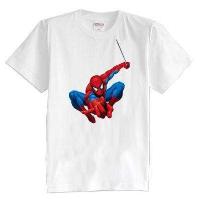 Crianças T shirt do verão de manga curta 100% algodão menina e menino crianças t camisas Do Homem Aranha dos desenhos animados 8 cores