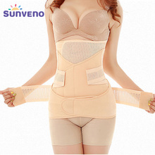 3in1 Belly Abdomen Pelvis Postpartum Belt Body Recovery Shapewear Belly Slim Waist Cinchers Breathable Waist Trainer