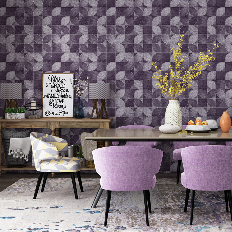 Modern Wallpapers Home Decor 3D Petal within Lattice Embossed Wall Paper Roll for Living Room Walls Waterproof PVC Wallpaper shinehome rose bloom floral wallpaper for 3d rooms walls wallpapers for 3 d living room wall paper murals wallpaper mural roll